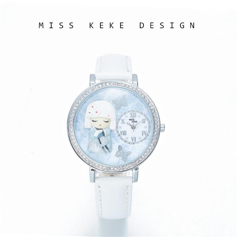 Miss Keke Originalus dizainas Sniego karalienė 3D molio laikrodis - Moteriški laikrodžiai