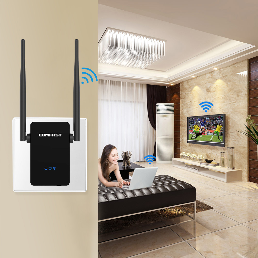 Wi fi Repeater 300Mbps Home Wireless N Router Wifi Repeater Long Wi fi Range Extender Booster 2*5dbi Antenna Amplifier EU US