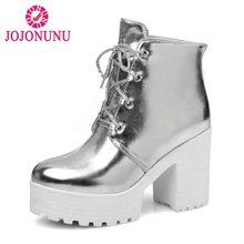 JOJONUNU tamaño 33-44 mujeres tacones altos botas trampa invierno de las  mujeres de la plataforma botines de moda Sexy partido d. c77d21d5894d
