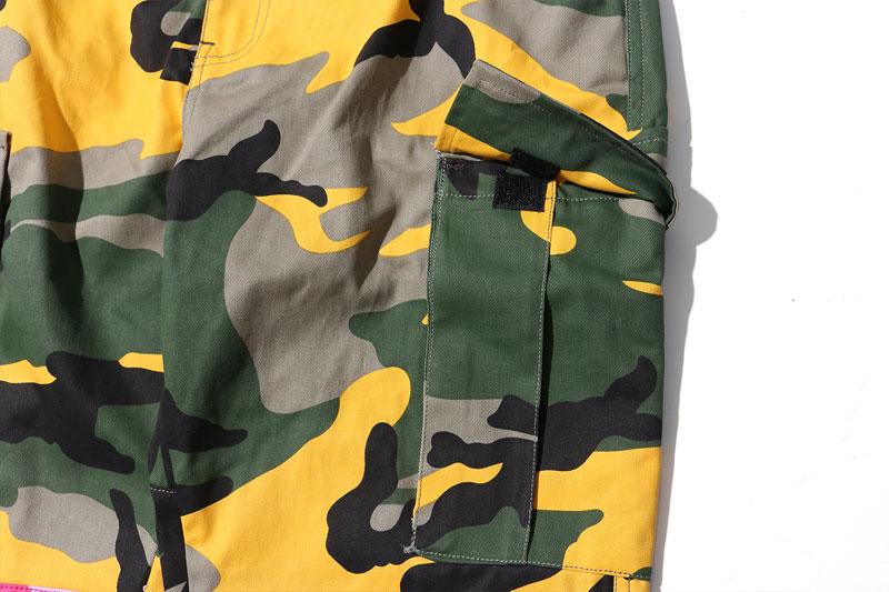 Tri Color Camo Patchwork Cargo Pants 7