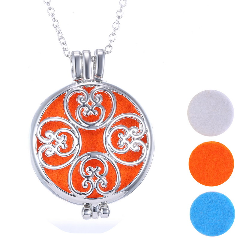 Hot Living Memory Locket Fragrance Essential Oil Aromatherapy Diffuser Necklace