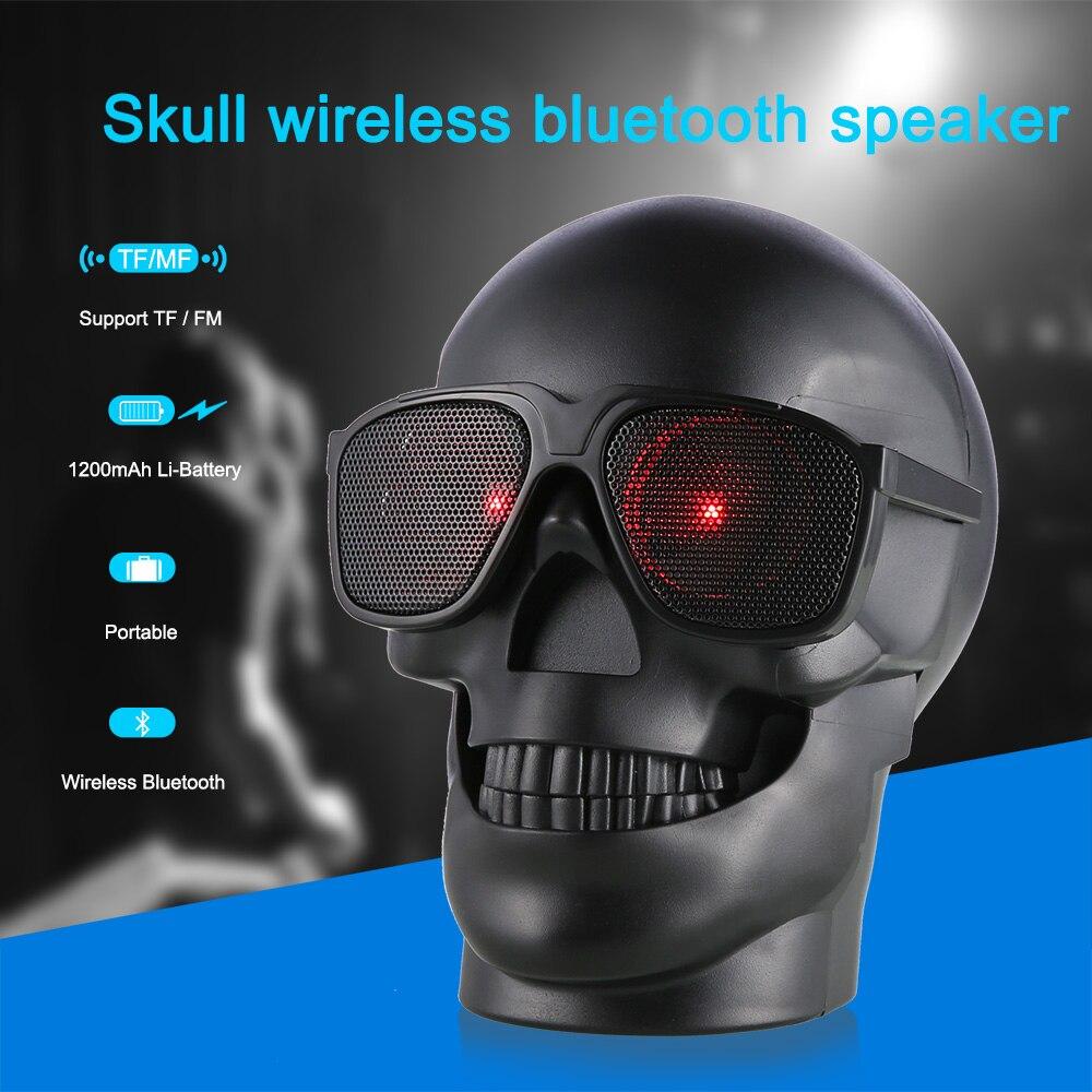 Drahtlose Sonnenbrille Schädel Bluetooth Lautsprecher Bass Halloween ...