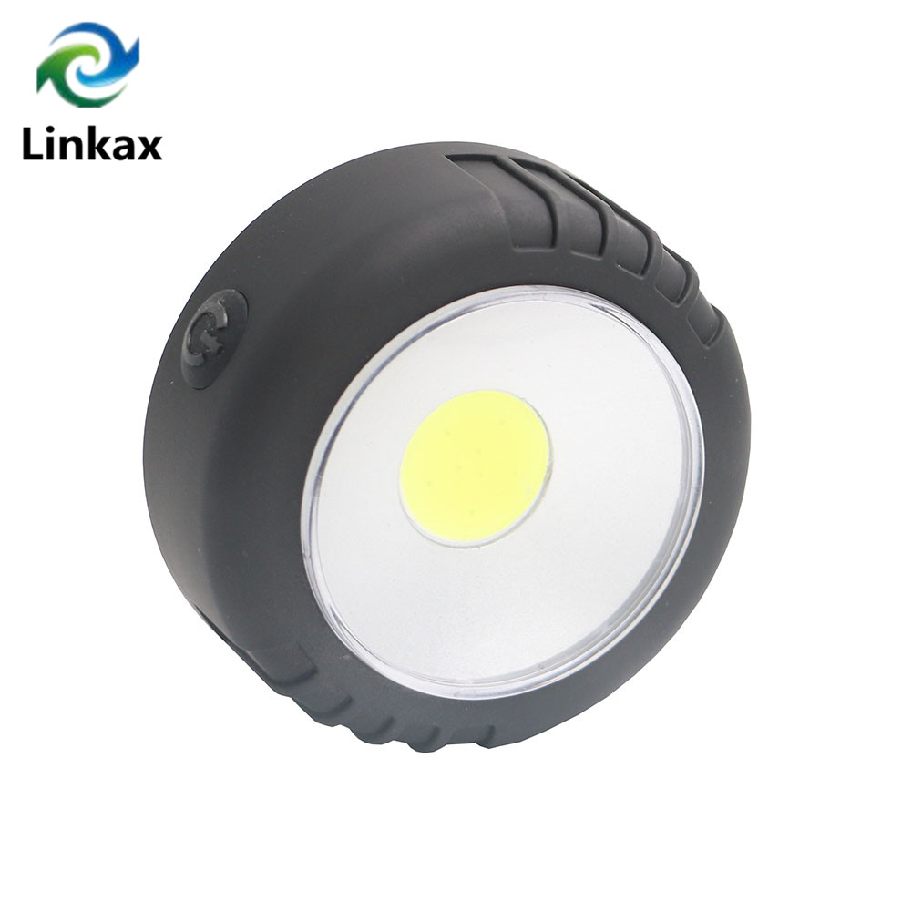 Mini LED COB Work Flashlight Light Lightweight Pocket Portable Lantern Magnet Hanging Lamps For Outdoor Camping By 3xAAA
