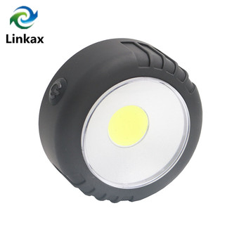 Mini LED COB Work Flashlight Light Lightweight Pocket Portable Lantern Magnet Hanging Lamps for Outdoor Camping By 3xAAA фото