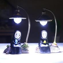 Luz de noche LED Miyazaki Hayao Kaonashi lámpara táctil niños luz de lectura dormitorio decorativo totoro lampara led infantil lampara bebe