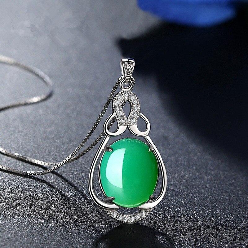 Collar de plata de la joyería de la marca 925 gotas colgante - Joyas - foto 4