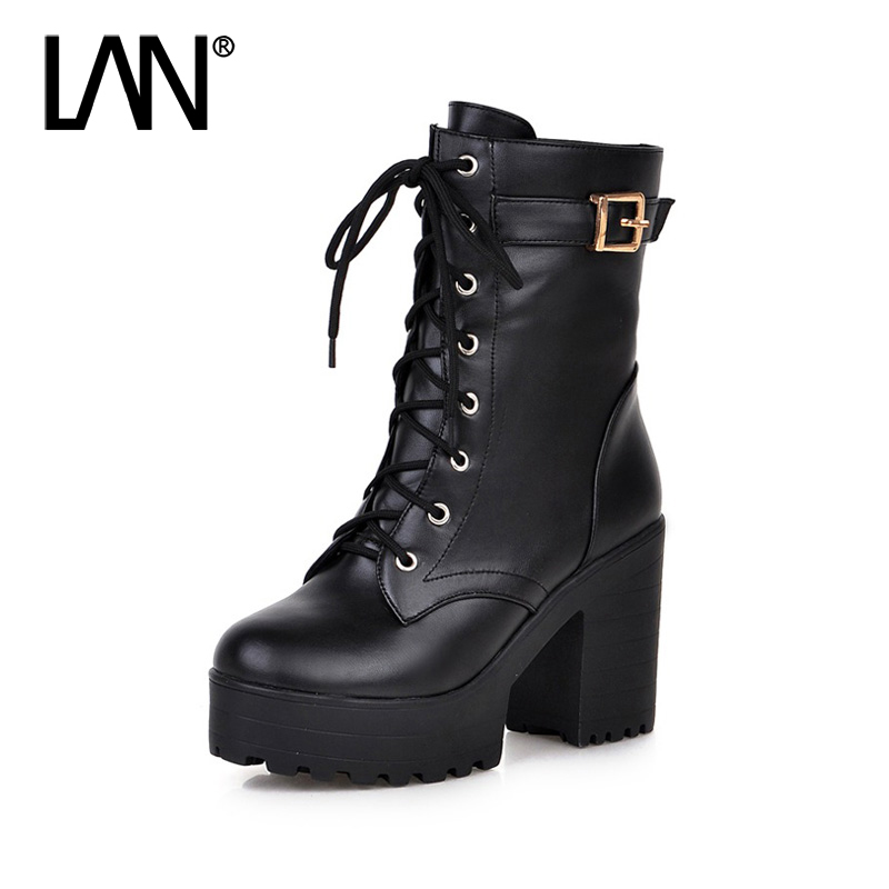 2017 Winter Women Ankle Boots High Heels With Fur Women Martin Boots Sexy Ladies Boots Shoes Plus Size 34-42 цены онлайн