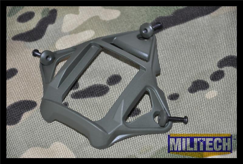 imágenes para Oliver Drab OD Color Esqueleto De Aluminio Sudario MARSOC WARCOM Noche Gafas de visión 3 Agujeros Base de Montaje de NVG Ops Core Skeleton sudario
