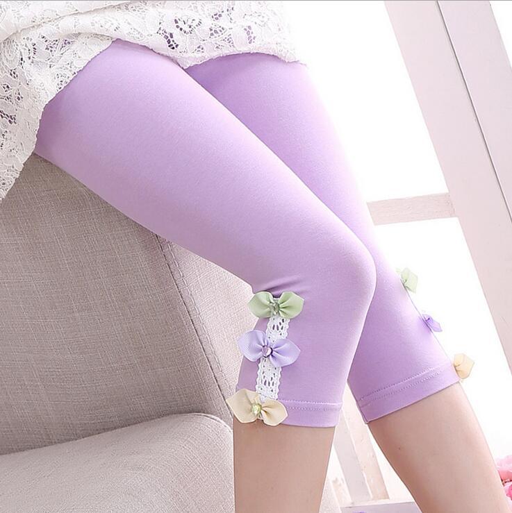 Kids Leggings For Girls Children Clothing Cotton Flower Pants Girls Skinny Trousers 3 4 5 6 7 8 9 11 12 Years Summer Dance Wear 5