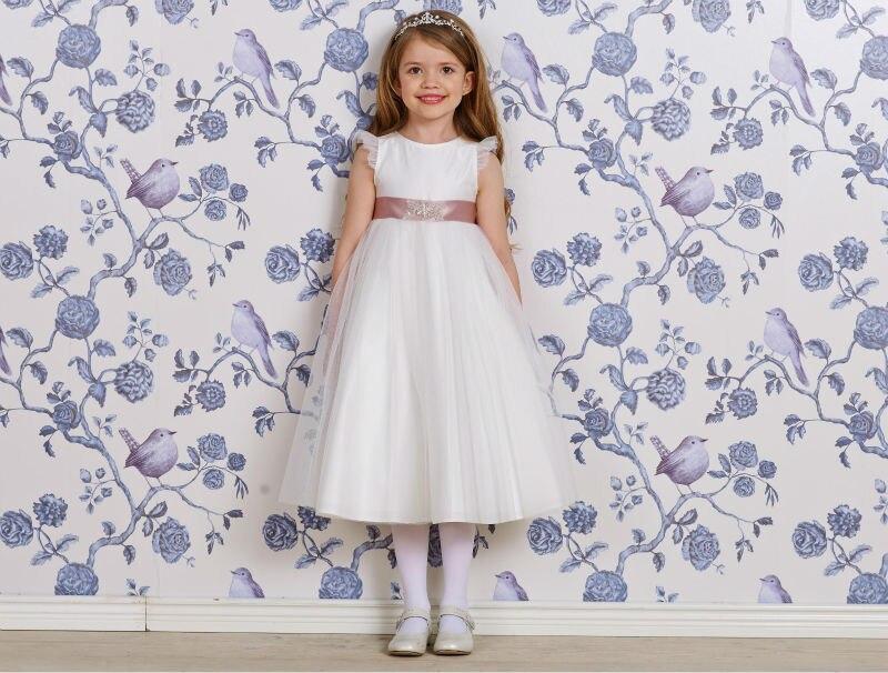 ФОТО Tulle Flower Girls Dresses For Wedding Gowns White Girl Birthday Party Dress Free Shipping Flower Girl Dresses