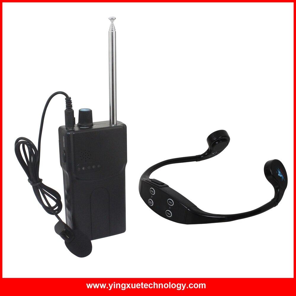 Waterproof Bone Conduction Swimming Teaching Device Receiver with 1 Walkie Talkie +1 Waterproof Headphone Receivers+1 Microphone professional walkie talkie headphone headsets k head