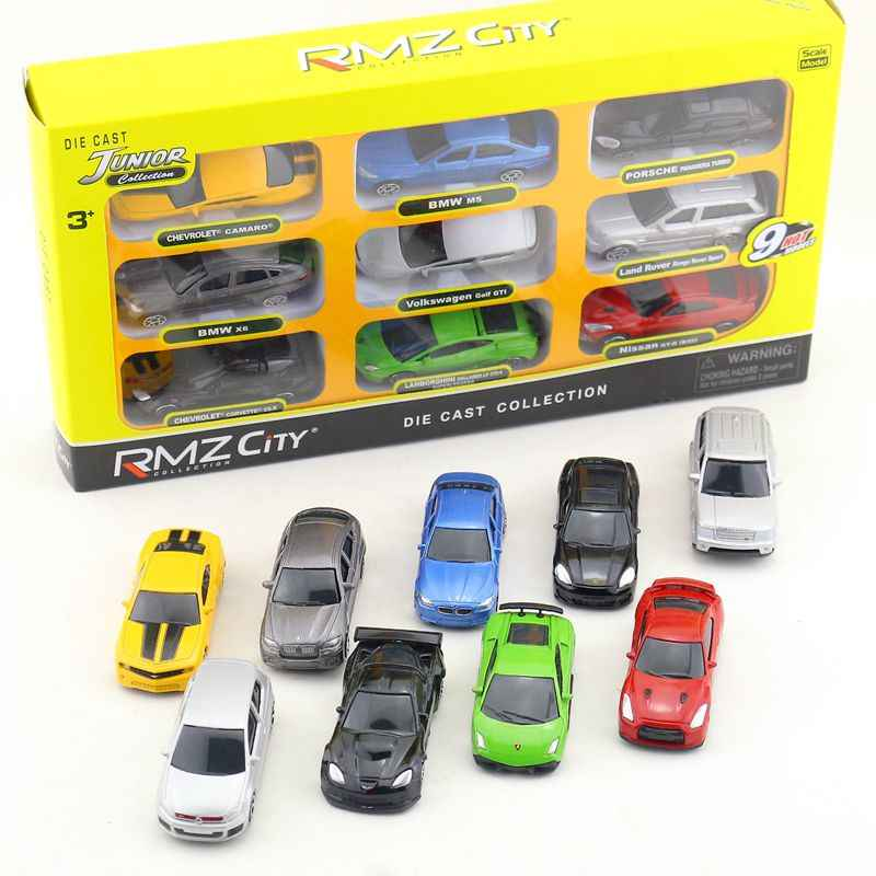 RMZ City/1:64 Scale/Diecast Educational Model/Audi Chevrolet Nissan Super Sport Toy Car Set/Collection/Gift For Kid/Small