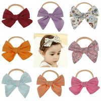 Multiple Styles Baby Girl Flower Bow Hair Band Turban Knot Headbands Headwrap Random Colour 2019 New in Fashion
