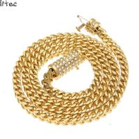 6mm Stainless Steel Wheat Chain Gold Silver Plated 73cm Long Franco Chain Necklace Mens Jewelry Luxury