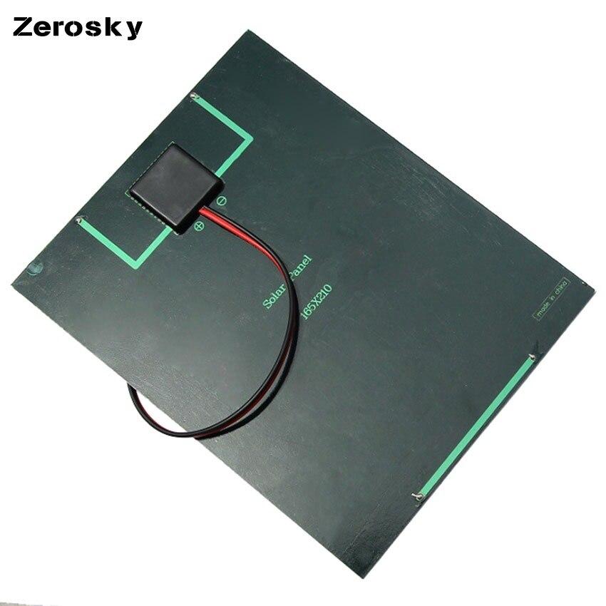 Zerosky 5 2W 18V Solar Cell Polycrystalline Solar Panel Crocodile Clip For Charging 12V Battery Solar