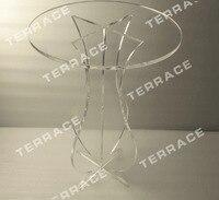 ( Livraison gratuite ) déroulement cristal acrylique caryer socle rond Table basse, Vantage Lucite sculpté Table Accent