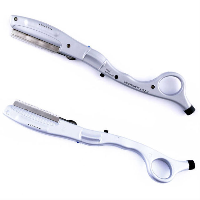 2PCS Good Quality Ultrasonic Hot Vibrating Razor for Haircut Human Periwig Wig Extension Tool Hair Beauty Salon Use Moldertool