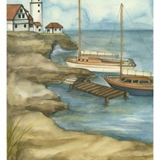 Sunday Sail I (PT) Poster Print by Jennifer Goldberger (12 x 16)