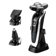 Hot Sale Broadcare 4D Heads 3 in1 Washable Electric Shaver Nose Trimmer Razor Professional Shaver For Men Face Care Quick Charge