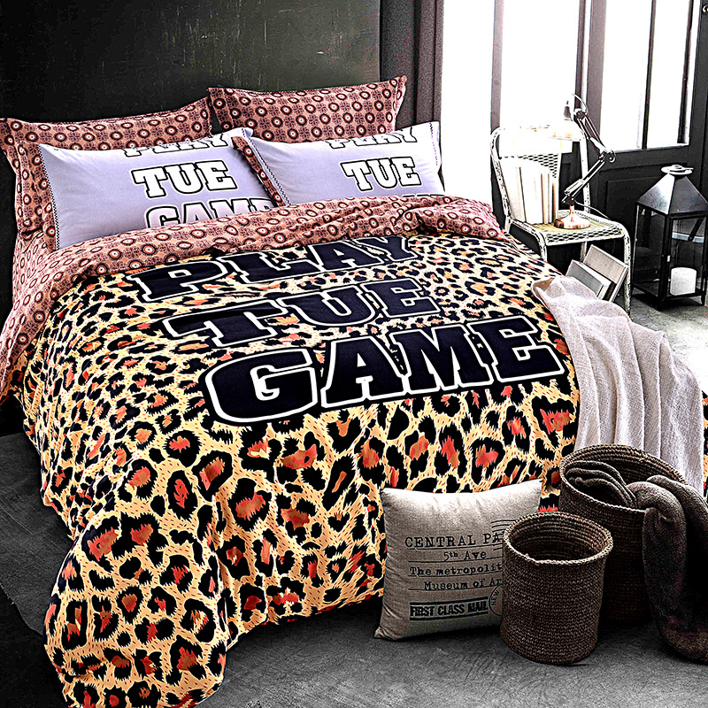 Leopard Print And Camouflage Bedding Set Queen King Size Brushed Cotton  Fabric Warm Winter Bed Sheets Pillowcase Duvet Cover Set In Bedding Sets  From Home ...