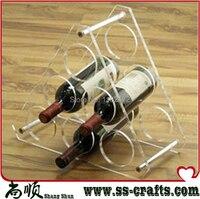 Beautiful Shape Acrylic Wine Rack Wine Shelf Home Wine Holder 6 Bottles