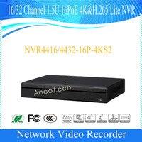 DAHUA 4K POE NVR 16/32 Channel 1.5U 16PoE 4K&H.265 Lite NVR DHI NVR4416 16P 4KS2/DHI NVR4432 16P 4KS2