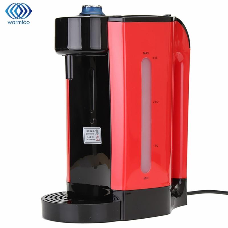 Chauffage instantané distributeur d'eau chaude électrique 3L chaudière bouilloire électrique bureau cafetière bouilloire bouillante maison 2200 W