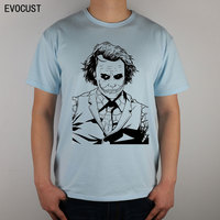joker The Dark Knight Heath Ledger T-shirt Top Lycra Cotton Men T shirt