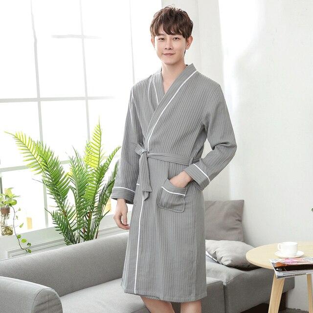 Kimono Bathrobe Men Plus Size Xxl Waffle Bathrobe Mens Dressing Gown