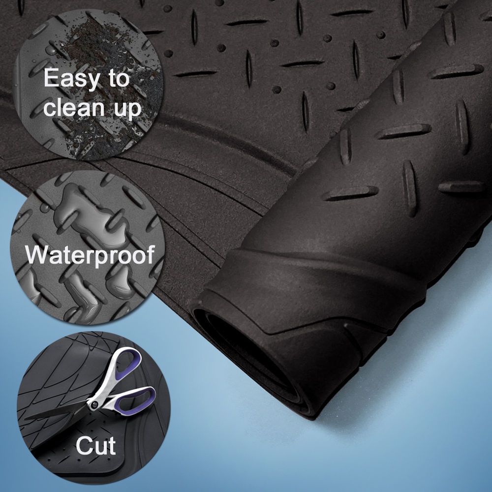 Rubber floor mats cheap - Us Trunk Cargo Floor Mats For Suv Van All Weather