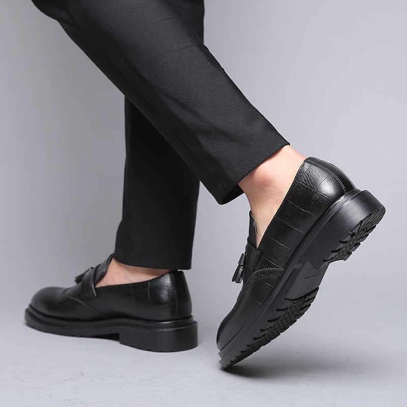 DXKZMCM ผู้ชายรองเท้า Handmade อังกฤษ Brogue สไตล์ Paty หนังรองเท้าผู้ชายรองเท้าหนัง Oxfords รองเท้าอย่างเป็นทางการ
