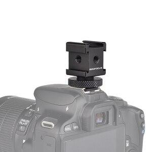 Image 4 - Adattatore cardanico triplo per montaggio su slitta fredda per luci, monitor a LED, microfoni, registratore Audio e videocamera con staffa Flash da Studio