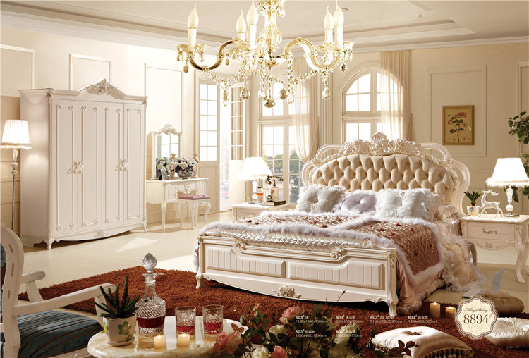 2016 Antique Luxury French Style Bedroom Furniture Set 0409