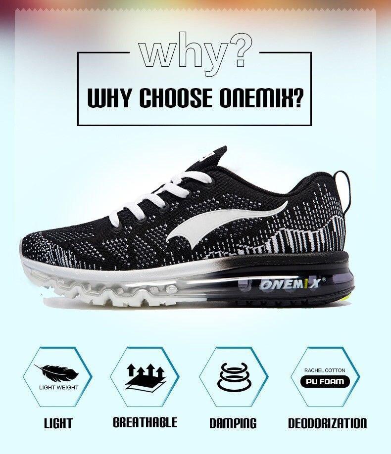 Onemix męskie sportowe buty biegowe z poduszkami