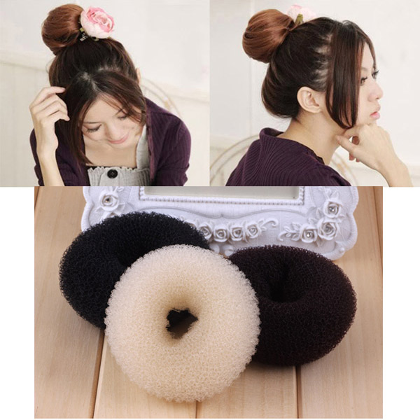 1 Pcs Magic Lady Sponge Donut Bun Maker Hair Styling Tool Soft Hair Styler Shaper Hair Rollers HB88
