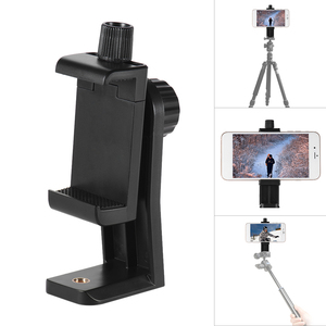 Image 5 - CB1 Andoer פלסטיק Smartphone טלפון קליפ סוגר מסגרת מהדק תמיכת Stand מחזיק הר עבור iPhone 7/7 s/6/6 s הסלולר Selfie