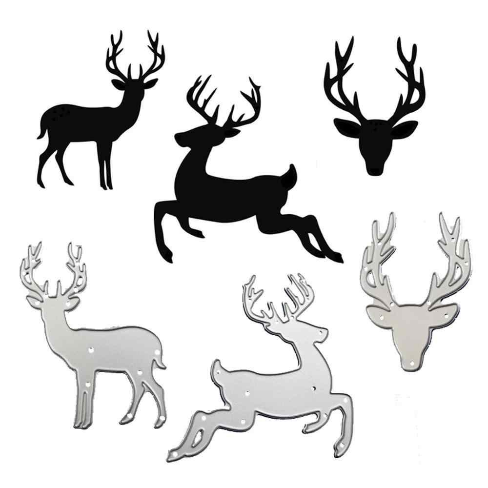 WYSE 鹿金属切削ダイス 2020 クリスマスクラフトダイスステンシルはスクラップブッキング Diy フォトアルバム紙カードテンプレート用品