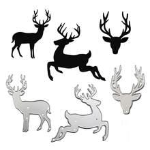 WYSE Deer-matrices de découpe en métal de noël, matrices artisanales pour pochoir, scrapbooking pour bricolage d'album Photo, fournitures de modèle de carte en papier, 2020