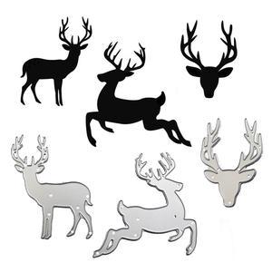 WYSE Deer Metal cutting dies 2020 Christmas Craft Dies stencil Die scrapbooking for DIY Photo Album Paper Card Template Supplies