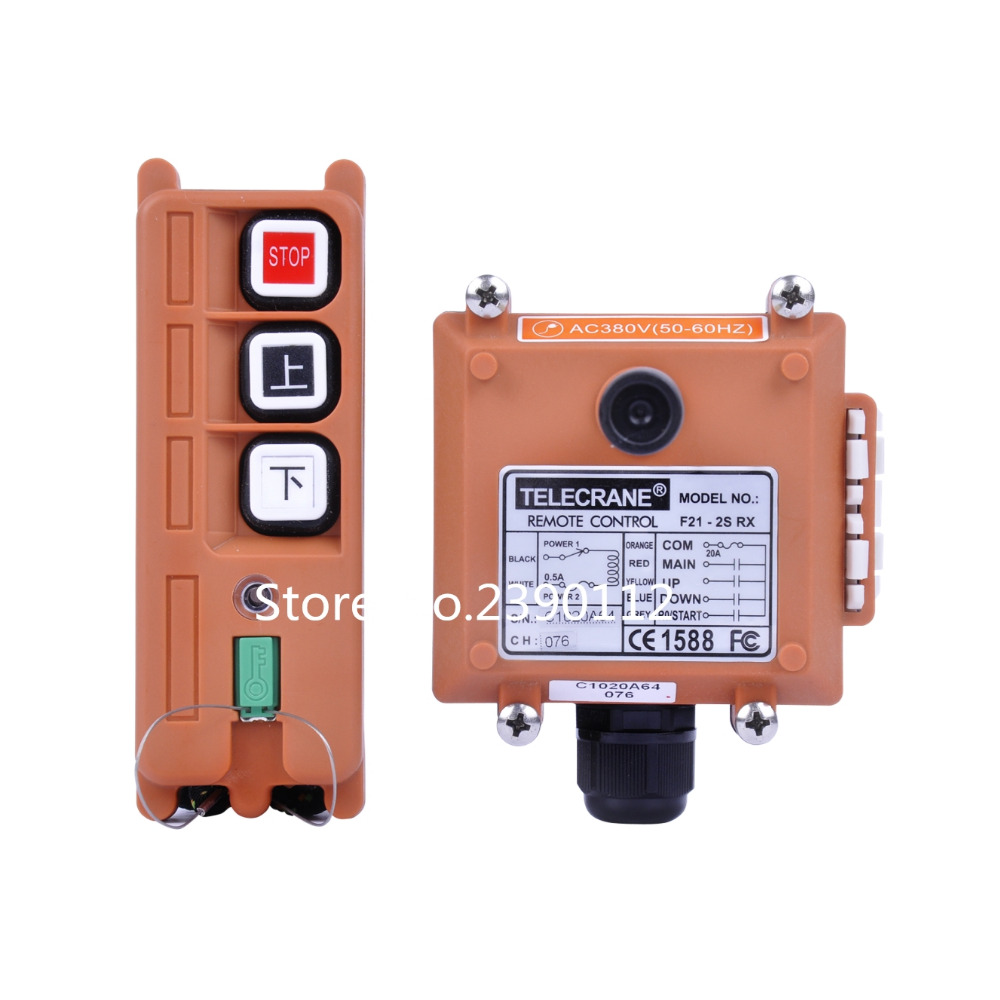 Industrial Remote Control Crane F21-2S TELEcrane Wireless controller 36V 220V 380V DC 1 Transmitter 1 Receiver VHF310-331 MHz nice uting ce fcc industrial wireless radio double speed f21 4d remote control 1 transmitter 1 receiver for crane