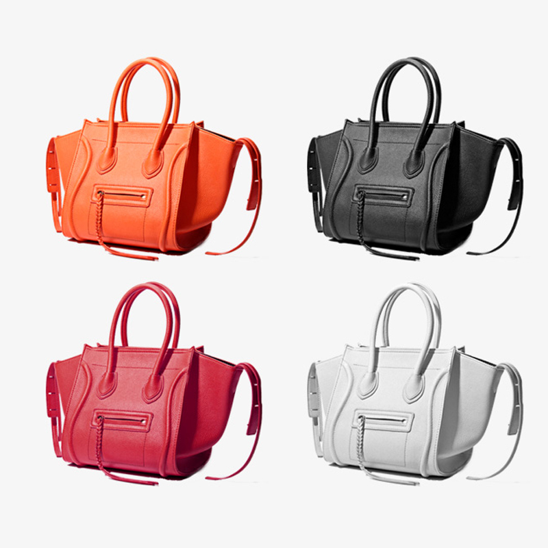 small Sacs Femmes Luxe Black medium Designer large Fourre En Gray À medium 2019 small Gray Red Marques De Smiley tout Visage Main large Black Red Orange small Orange Medium Pu Cuir Célèbre medium Orange Black Bolsa large Cq1xEdFxv