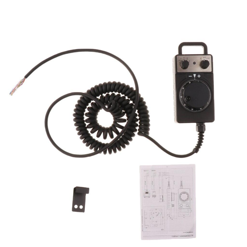 Ручной импульсный кодер, электронный маховик с ЧПУ для FANUC/GSK/KND, полностью пластиковый корпус, станки - 3