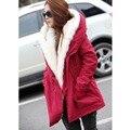 2017 New Winter Wool Jacket Women Coat Warm Casual Girls Fashion Outwear Ladies Overcoat Fur Collar Down&Parkas Plus Size