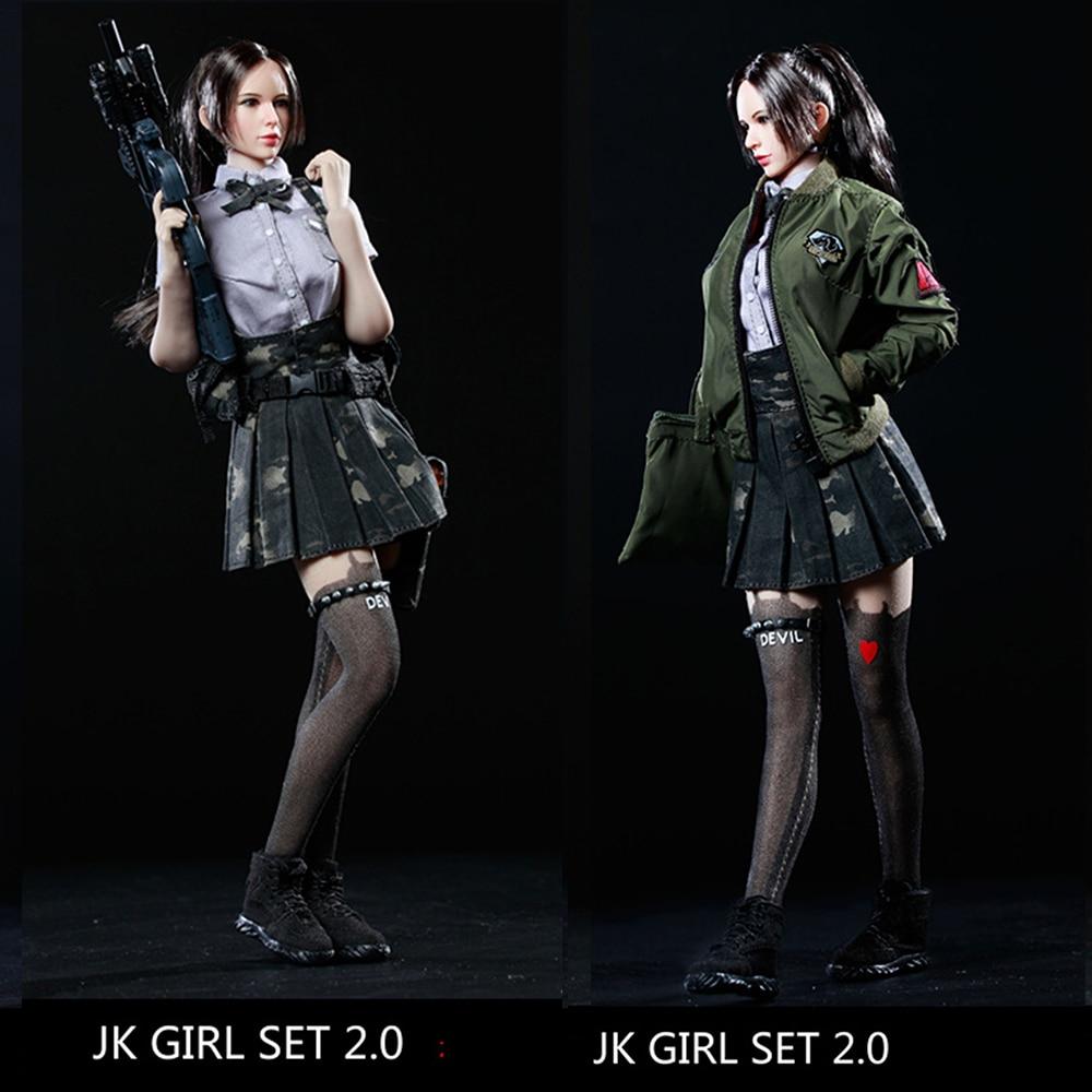 1/6 Échelle Sexy Femmes Soldats Modèle JK FILLE SET2.0 Armés étudiante Vêtements Pour 12 PH poupée figurine