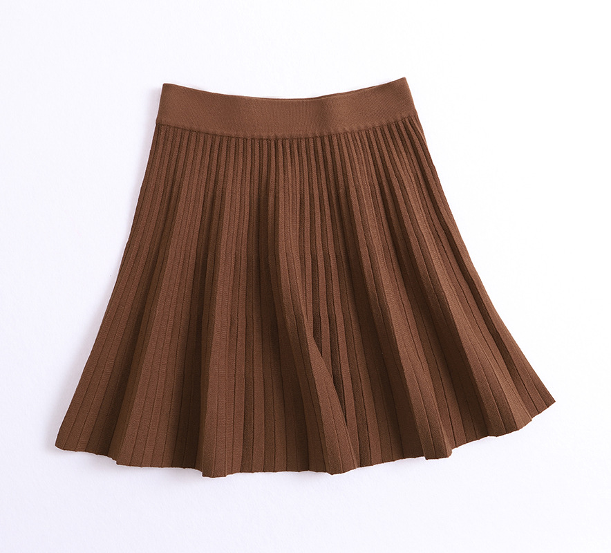 Sherhure 2019 Stretch High Waist Women Spring Mini Knitting Skirts Women A-line Pleated Skirt Black Faldas Jupe Femme Saia