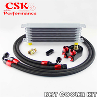 7 linha an 8 confiança refrigerador de óleo + 3/4*16 & m20 * 1.5 filtro adaptador kit mangueira de náilon|kit kits|cooler cooler|oil cooler 7 row -