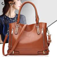 2019 Ladies Hand Bag Women's PU Leather Handbag Leather Casual Tote Crossbody Bag Bolsas Femininas Female