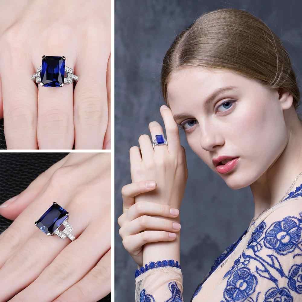 JewelryPalace 9ct สร้าง Blue Sapphire แหวนเงินแท้ 925 แหวนแหวนหมั้นแหวนเงิน 925 เครื่องประดับอัญมณี