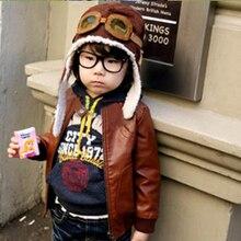 New Fashion Cute Cartoon Baby Toddler Pilot Hat Beanie Kids Warm Cotton Cap Earflap Ear Cover Gift Beanies LB