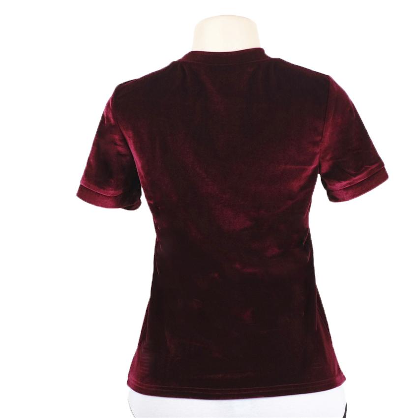 HTB1tGUlRXXXXXXYapXXq6xXFXXXJ - Summer Tops Short Sleeve Cotton Velvet T Shirt Women